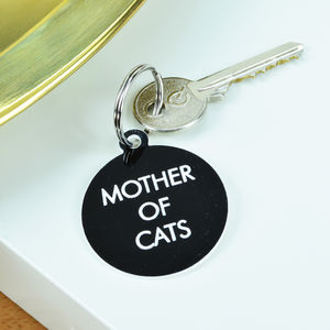 Mother Of Cats Key Tag