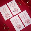 Personalised Christmas Snowflake Tags