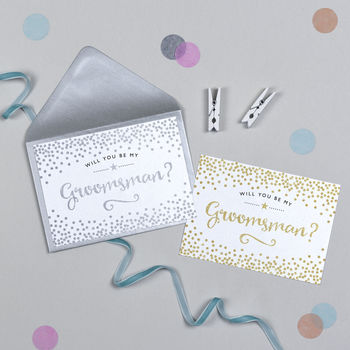 Glitter And Sparkle Will You Be My Groomsman Card