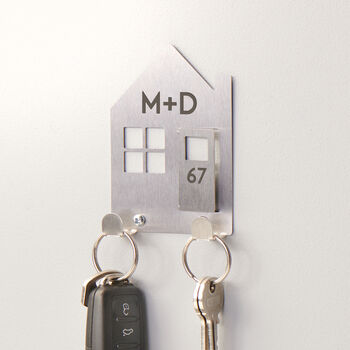 Personalised New Home Couples Key Holder