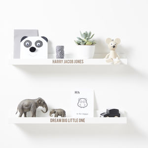Personalised Shelf - children's room