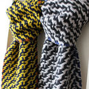 Handwoven Graffiti Scarf