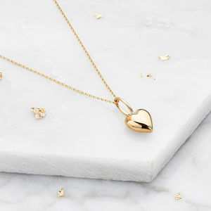 Gold Or Silver Delicate Heart Pendant Necklace - gifts for her