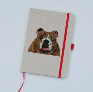 Personalised Pet Canvas Notebook