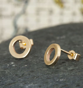 9ct Gold Ring Studs - earrings