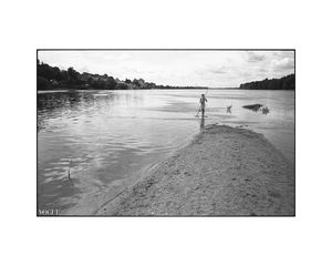 Boy Fishing Photographic Art Print