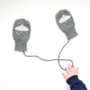 Raincloud Mittens - cosy clothing