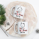 Set Of Big And Little Spoon Personalised Mugs