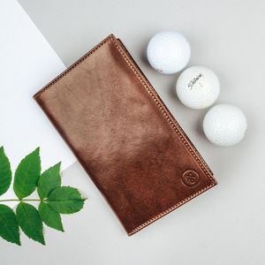 Luxury Leather Golf Card Holder. 'The Sestino' - 50th birthday gifts