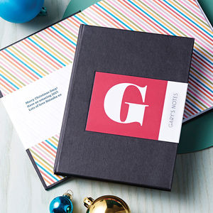 Personalised Alphabet Notebook - gifts for teenagers