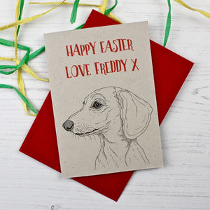 Dachshund Dog Easter Card