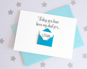 Personalised Envelope Dad Days Card