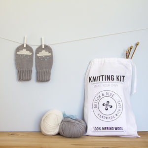 Raincloud Mittens Knitting Kit - new lines added