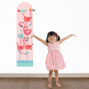 Personalised Flamingo Height Chart