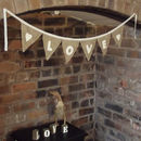 Hessian And Lace Decorative Fabric Bunting For Home