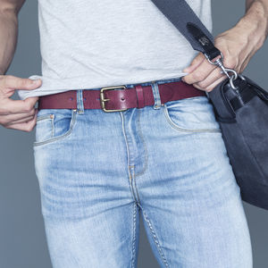 Handmade Casual Men's Leather Belt