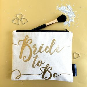 'Bride' Gift Make Up Bag - make-up & wash bags