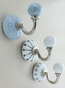 Cambridge Grey Ceramic Wall Hook - baby's room