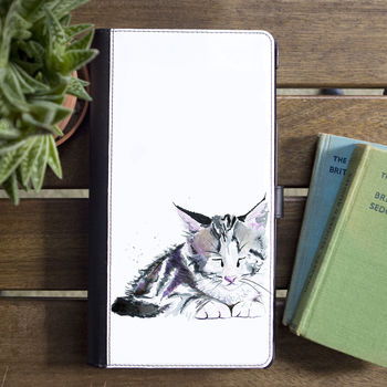 Inky Kitten Flip Phone Case With Card Slots