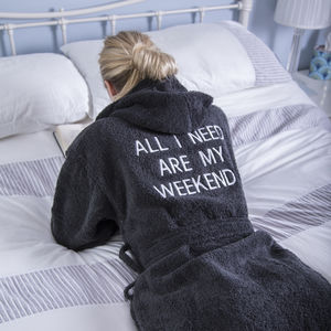 Personalised Cotton Hooded Bathrobe - bath robes