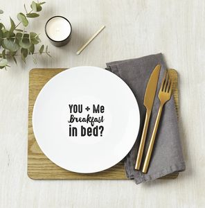 Personalised Breakfast In Bed Ceramic Plate