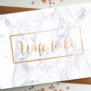 Wife To Be Rose Gold Foil Marble Wedding Card