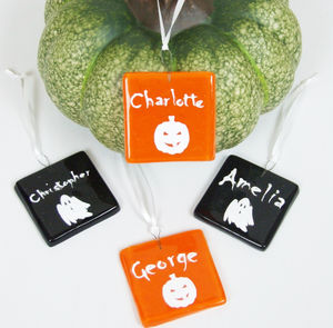 Handmade Personalised Glass Halloween Party Favour