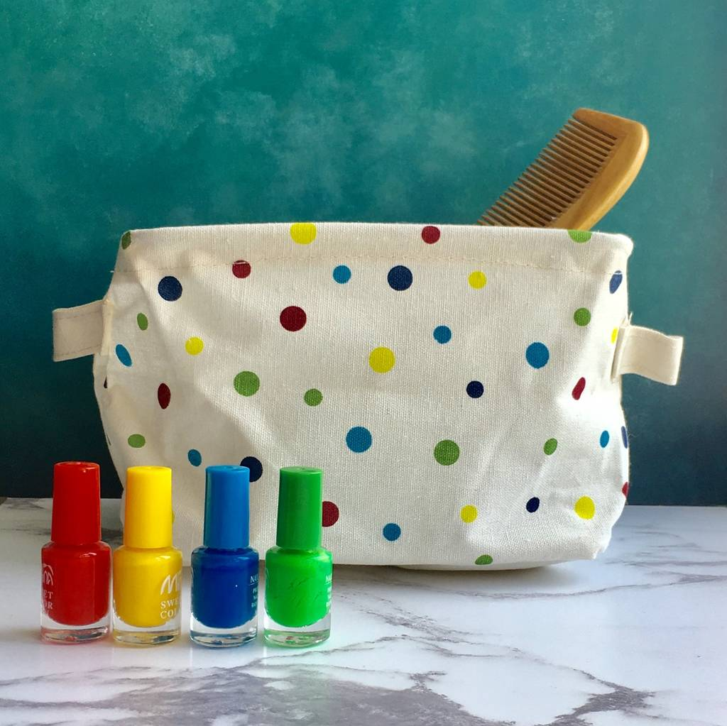 Bright Spotty Storage Basket