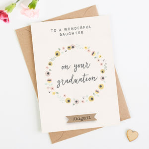Daughter Graduation Card Personalised
