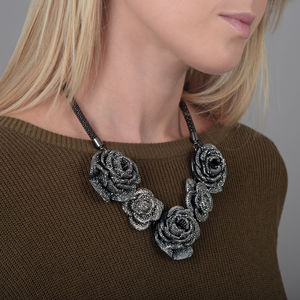 Blingy Crystal Rose Necklace - necklaces & pendants