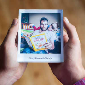 Personalised Father's Day Photo Acrylic Block - children's room