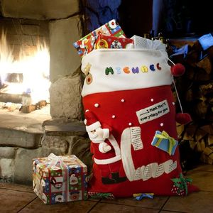 Santa's Christmas List Personalised Sack - stockings & sacks