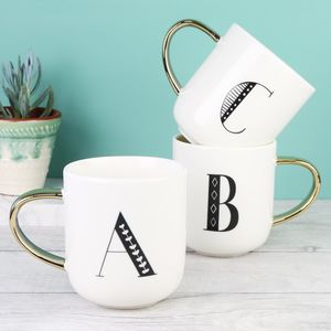 Ceramic Letter Mug - kitchen