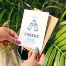 Father's Day Card 'Cheers Dad' Card