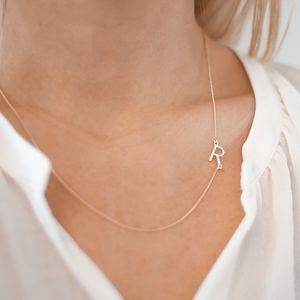 Personalised Initial Letter Necklace - gifts for her