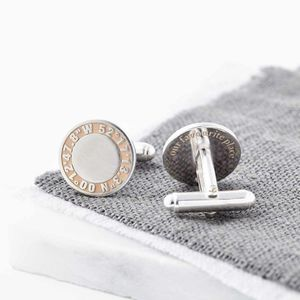 Personalised Silver And Rose Gold Coordinate Cufflinks - wedding fashion