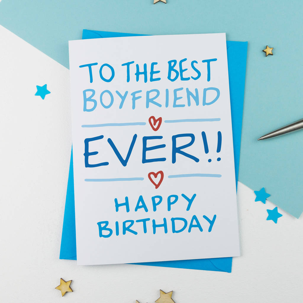Birthday Card Boyfriend Birthday Card For Him Birthday: Boyfriend Birthday Card By A Is For Alphabet