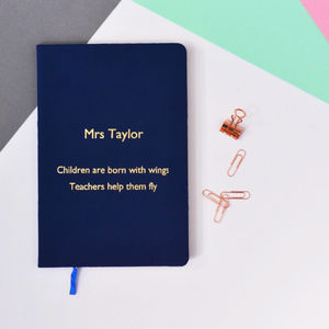 Personalised Thank You Teacher Quote Notebook - gifts for teachers