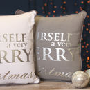 Personalised Grey And White Christmas Cushions