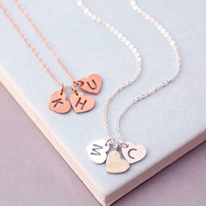 Triple Sterling Silver Heart Necklace - gifts for friends