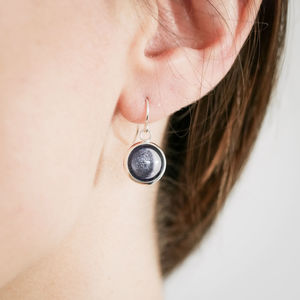 Custom Moon Drop Earrings - earrings