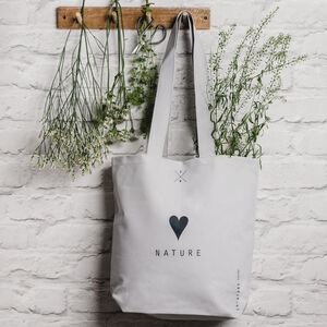 Love Nature Grey Tote Bag