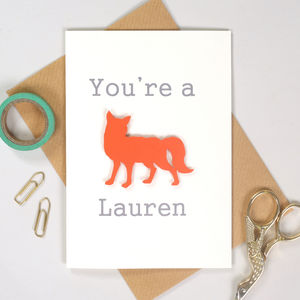 You're A Fox Valentine's Card - wedding, engagement & anniversary cards