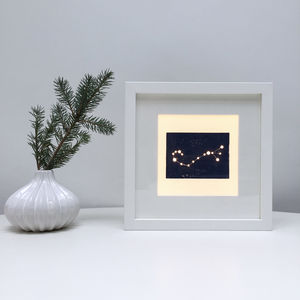 Personalised Scorpio Constellation Light Box - table & floor lamps
