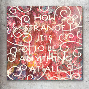 'How Strange' Original Acrylic Painting - canvas prints & art