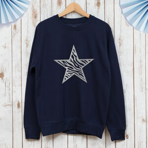 Ladies Zebra Star Sweatshirt