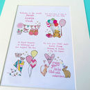 Personalised New Baby Print Mounted print (in pink)