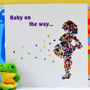 Butterfly Baby On The Way Card