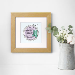 Jump In Puddles, Print - family & home