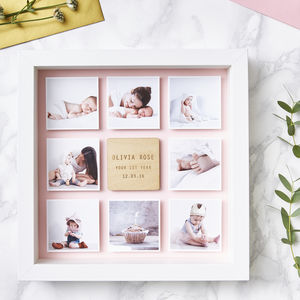Personalised Framed Baby Photo Print - top 50 christening gifts